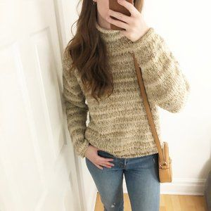 Columbia Cozy Wool Blend Rolled Neck Knit Sweater
